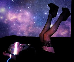 galaxy, hipster, and universe image