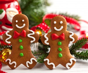 christmas, christmas cookies, and gingerbread image