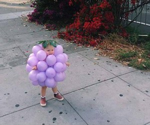 cute, baby, and grapes image