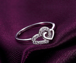 bling, love, and heart image