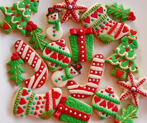 christmas, winter, and christmas cookies image
