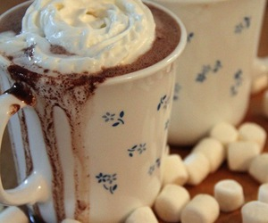 marshmallow, drink, and sweet image