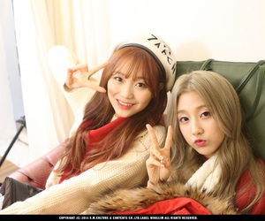 woollim, yein, and lovelyz sujeong image