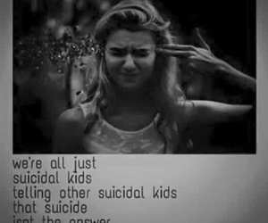 suicidal, sad, and suicide image