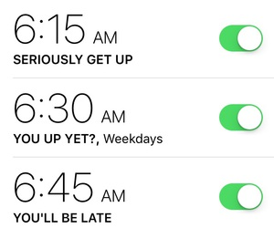 alarm, funny, and iphone image