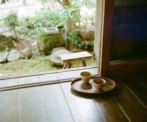 cup, tea, and wood image