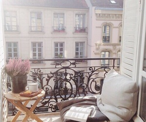 balcony, home, and book image