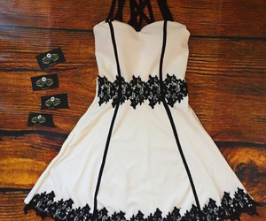 black, branco, and dress image