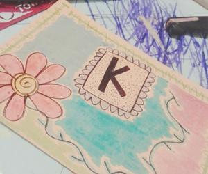 art, K, and tatoo image