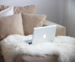 apple, laptop, and home image