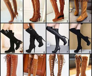 beauty, boots, and fashion image