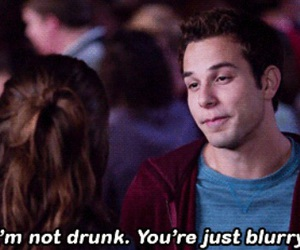 pitch perfect, drunk, and blurry image