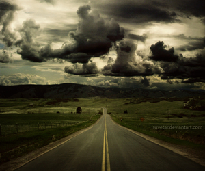 clouds, landscape, and photography image