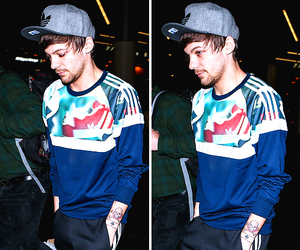 louis tomlinson, one direction, and adidas image