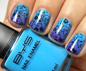 nails, cool, and dress image