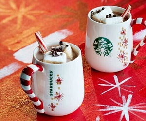 christmas, starbucks, and marshmallow image