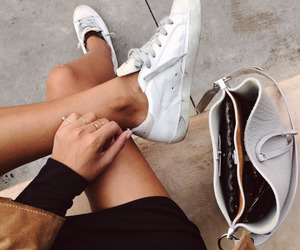 black, sneakers, and streetstyle image