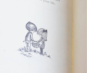 couple, drawing, and text image
