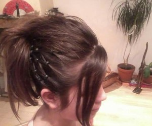 hair, party hair, and brunete image