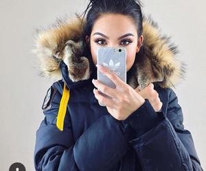winter, makeup, and adidas image