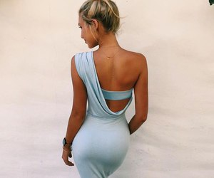 dress, style, and blonde image