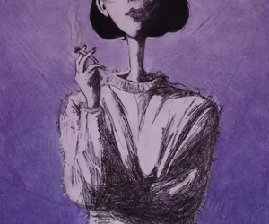 smoke, art, and cigarette image