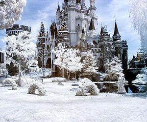 christmas, disneyland, and snow image