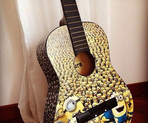 minions, guitar, and film image
