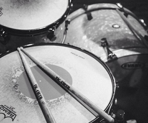 black and white, drums, and soul image