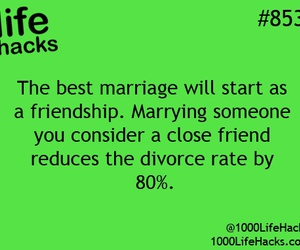 marriage, divorce, and friendship image