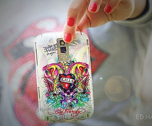 blackberry, ed hardy, and quote image
