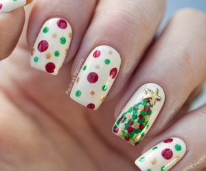 nails, christmas, and nail art image
