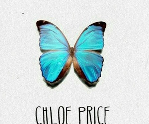 blue, chloe price, and butterfly image
