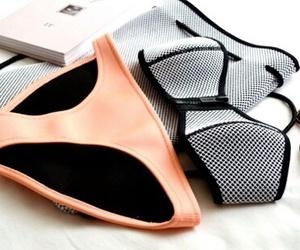 triangl, bikini, and orange image