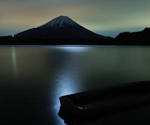 japan, mt fuji, and moon image
