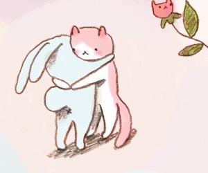 hug, cute, and aesthetic image