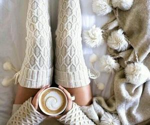 winter, coffee, and christmas image