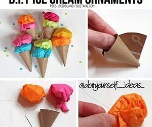 diy, ice cream, and ornaments image