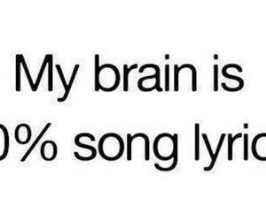 Lyrics, brain, and song image