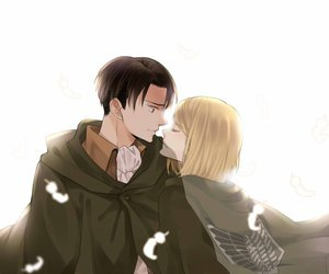 attack on titan, levi, and petra image