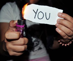 you, fire, and burn image