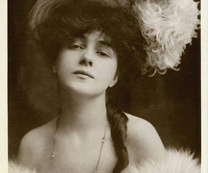 actress, feathers, and fur image