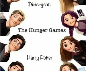 disney, the hunger games, and divergent image