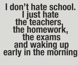 school, hate, and homework image