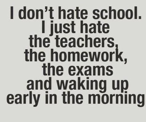 school, hate, and homework image