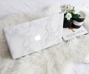 apple, flowers, and book image