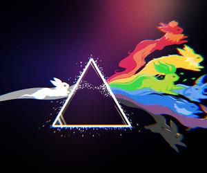 pokemon, eevee, and Pink Floyd image