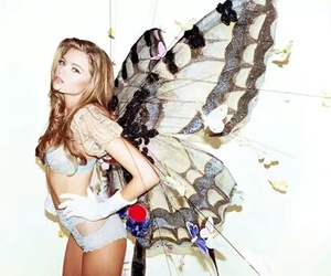 butterfly, model, and wings image