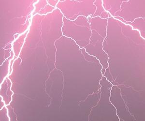 pink, lightning, and grunge image