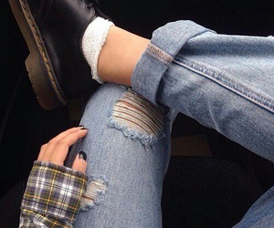 jeans, grunge, and shoes image